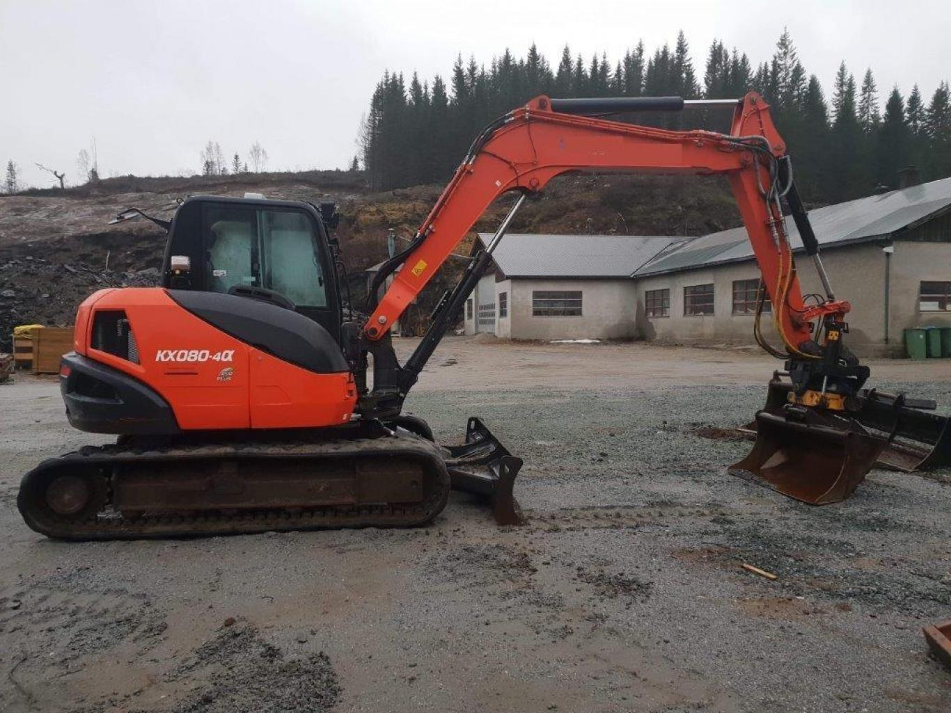 Kubota KX080-4 Eco Plus til Salgs Plustech AS